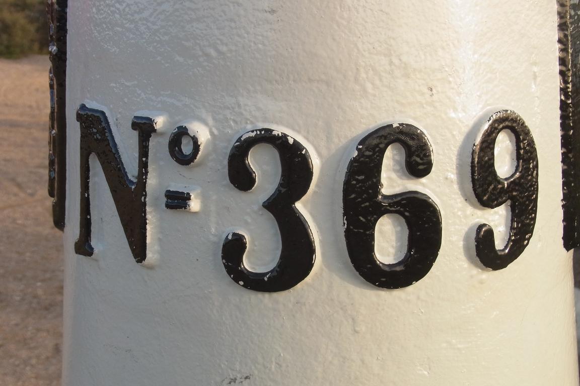 Cadzand-Bad - Grenzpfahl 369