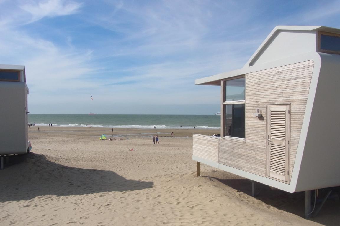 Cadzand-Bad: Strandschlafhäuschen