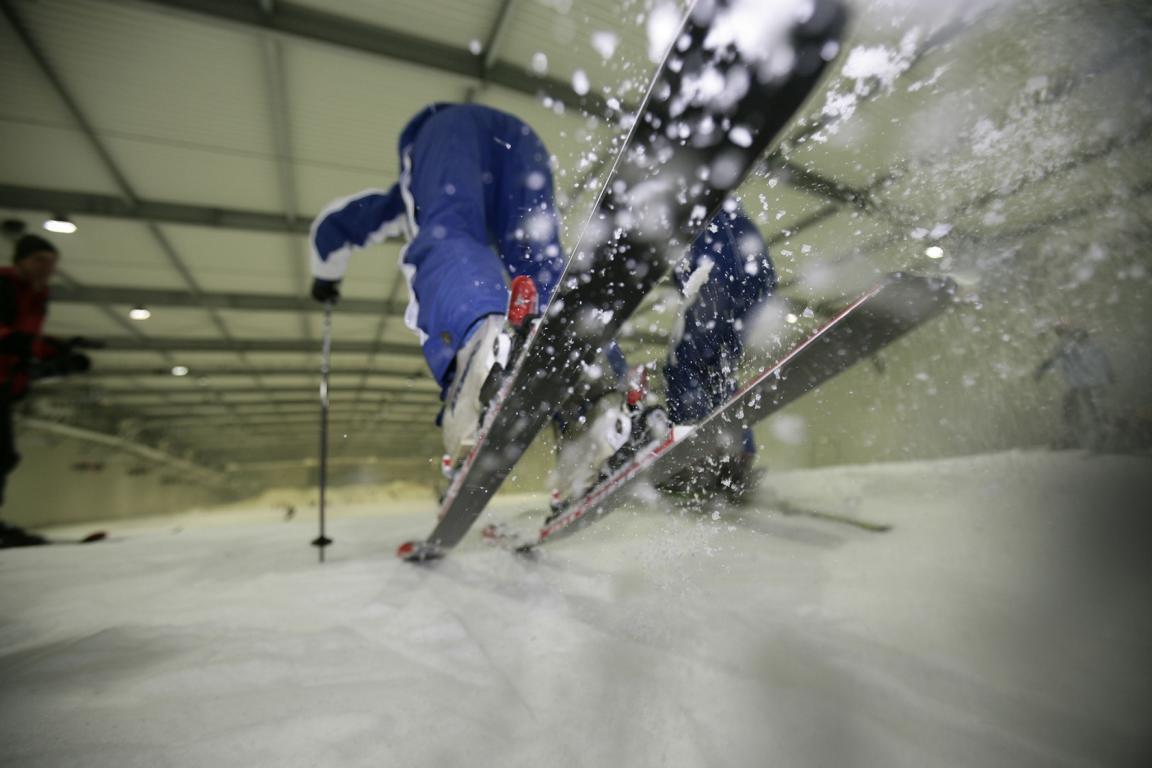 Skifahren & Snowboarding im ``Snowdome``, Terneuzen